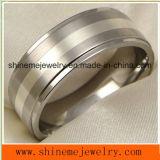 Shineme Jewelry Bijouterie à la mode Silver Inlay Finger Titanium Ring