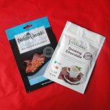 Aluminiumfolie-mit Reißverschlussverpackungs-Beutel mit Kerbe für Nahrung und Imbiß
