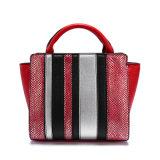 형식 상표 서쪽 최신유행 여자 핸드백 Python Satchel 다중 음색 큰 끈달린 가방