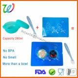 Vrije het Voeden van het Voedsel van de Snack van het Silicone van de Baby BPA Kom met Deksel