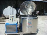 Refrigerador vertical do leite do aço inoxidável com parte superior aberta
