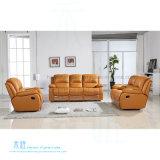Sofá de couro moderno do Recliner para o teatro Home (DW-8996-2S)