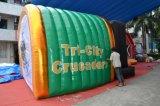 Túnel inflável da explosão do futebol do túnel do indivíduo do jogador de equipe da mascote