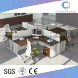 Sitio de trabajo moderno del cubículo de la oficina del vector del ordenador de los muebles