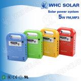 Whc 6V 5W nachladbarer LED Sonnenenergie-Installationssatz