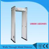 Promenade de 12 zones par la grille Ub600 de détecteur de métaux avec avec la fonction de WiFi d'écran LCD