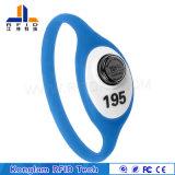 Wristband personalizzato del silicone RFID della cinghia di manopola della batteria per l'inseguimento di Digitahi