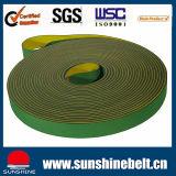 Industrielles Baumwollgrün-gelber/blauer flacher Transmissionsriemen