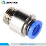 Enfoncer générique de Xhnotion le contact rapide pour brancher l'ajustage de précision droit mâle rond pneumatique de tube