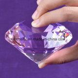 diamante grande del vidrio cristalino de la talla de 80m m para el arte de la decoración