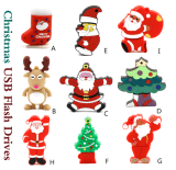 Volume 2GB do personagem de banda desenhada do Natal às movimentações do flash do USB 64GB