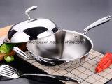 프라이팬 (SX-WO32-19)를 요리하는 스테인리스 취사도구 중국 Wok 독일 18/10의 기술