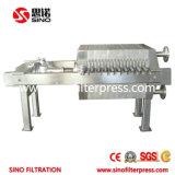 Acier inoxydable (SS 304) Filtre presse Plate