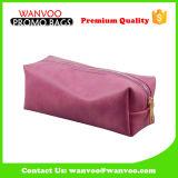 2016 die rote Bambusart PU-Frauen-Handtaschen-sackt kosmetische Beutel-Toilette Metallreißverschluß ein