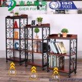 Стеллаж для выставки товаров полки стойки индикации книг стальной
