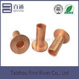 cobre de acero tubular lleno principal plano del remache de 8X20m m plateado