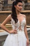 Hochzeits-Kleider der Schulamt-Prinzessin-Multilayer Lace
