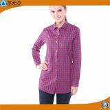 卸し売り女性長い袖のブラウスは綿の女性のブラウスのワイシャツを越える