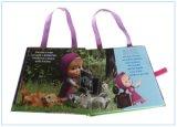 Libro colorido de la tarjeta del Hardcover de la impresión de los niños con la cinta