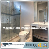 Mattonelle di marmo bianche/grige/gialle eleganti per circondare/pavimento/parete della stanza da bagno