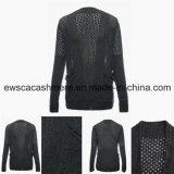 Sweater van het Mengsel van het Kasjmier van vrouwen de Sexy met Openwork Borduurwerk