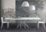 Mesa de jantar de design longo e de design moderno com base inoxidável (NK-DT233-1)