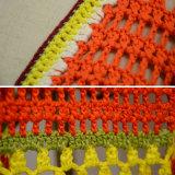 Cardigan arancione-chiaro del V-Collo delle donne con il manicotto a strisce