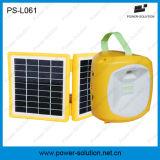 Lampada solare ricaricabile di plastica gialla portatile della lanterna del LED per lo Zimbabwe con il caricatore del telefono