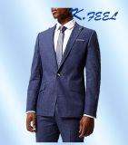 Портной верхнего качества 2016 сделал голубой Linen тонкий костюм пригонки для людей