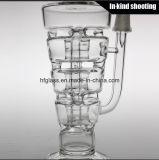 La pila Glas del parfait del Hitman attrezza la vasca di gorgogliamento esaltante di fumo spessa del tabacco saltata mano di vetro del narghilé del tubo di acqua della LIMANDA dell'olio all'ingrosso
