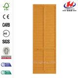 Porta de madeira Bi-Fold inacabado do pinho