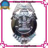 La policía del metal Badge con color del oro 18k