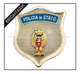 Kundenspezifische harte Decklack-Metallpolizei Badge (BYH-10037)