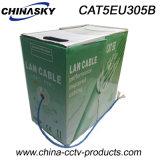 De Kabel van het Netwerk van het Koper van de Camera Cat5e van kabeltelevisie UTP (CAT5EU305B)
