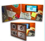 Cartolina d'auguri dell'affissione a cristalli liquidi da 2.4/2.8/3.5/4.3/5/7 pollici video per la pubblicità
