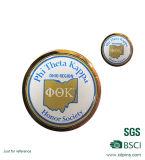 Metal redondo Bagde de la insignia al por mayor del grabado para la promoción (XDDT-001)