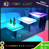 LED Furniture Plastic Glowing Color Changing LED Table