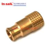 Encaixe de cobre fazendo à máquina do CNC da ferragem internacional