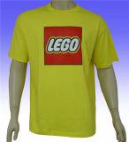 T-shirt prérétréci par vente en gros plate de coton pour les hommes