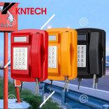 Telefoon knsp-18LCD van het Bewijs van de Telefoon van identiteitskaart van de bezoeker de Waterdichte