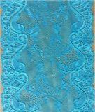 Cordón de nylon del estiramiento del telar jacquar azul para los accesorios de la ropa