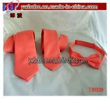 Cravatte di nylon del poliestere di Bowtie del legame del poliestere del personale di ufficio del jacquard (T8049)