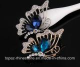 モンタナの蝶ブローチのオーストリアのラインストーンの水晶ブローチPin (TB-022蝶)