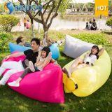 Aufblasbares Sofa-sackt faule Beutel-Lage Bohnen-Beutel-Hängematte Laybag aufblasbaren Bananen-Schlafsack ein