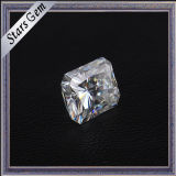 Clear White Rectangle Princess Diamond Cut Moissanite para Jóias