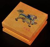 木製の粒状のペーパーカバーの宝石箱