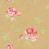 Nuevo papel pintado grabado profundo de lujo del vinilo 2016 con diseño floral