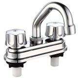 "Faucet тазика 4 "" Chromed ABS с ручкой 2"