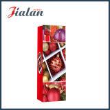 Bolsos directos del regalo del papel de las compras del portador de la botella de vino de la Navidad de la fábrica