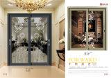 Spätestes Entwurfs-Doppelverglasung-Aluminium-schiebendes Fenster